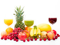 Fruits with juices