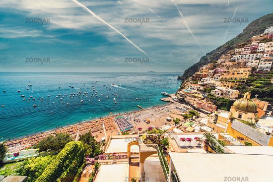 Amazing Amalfi coast. Positano, Italy