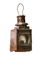 Old railway lantern