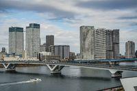 Ships and Tokyo skyline image
