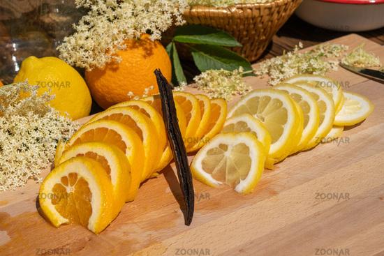 Selected best ingredients for the elderflower liqueur