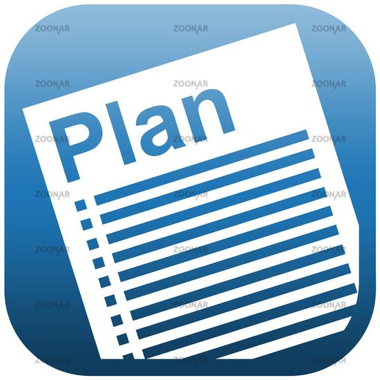 Blue icon illustration document plan