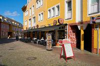 Restaurants in the popular old town of Berlin-Spandau in Germany
