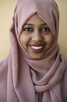 african muslim business woman portrait