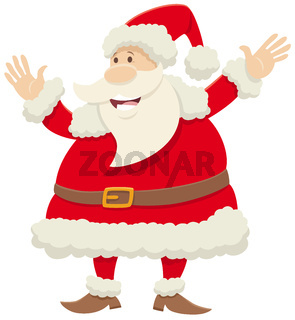 Santa Claus cartoon character celebrating Christmas time