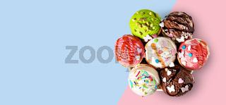 ice cream waffle cone on white background