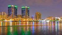 Dubai Creek and Deira at night