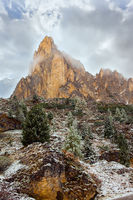 Magnificent panorama of Dolomite Alps