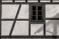 The window of a half-timbered house