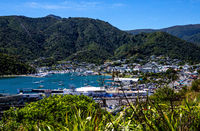 Picton Harbour, Marlborough Sounds, South Island, New Zealand, Oceania.