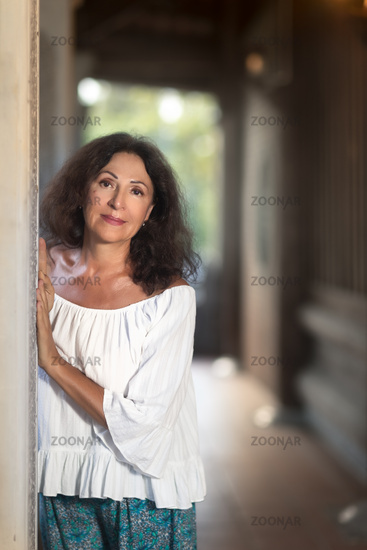 Outdoor portrait of a beautiful senior woman