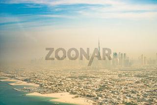 Urban landscape of Dubai (United Arab Emirates)