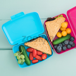 Healthy lunch boxes