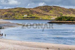 MORAR ESTUARY, SCOTTISH HIGHLANDS/UK - MAY 19 : View of  the estuary of Morar Bay in the West H.ighlands of Scotland on May 19, 2011