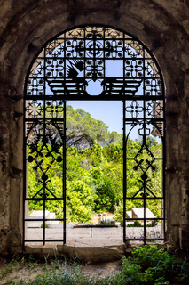 View through an ancient gate