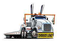Cartoon oversize load transporter