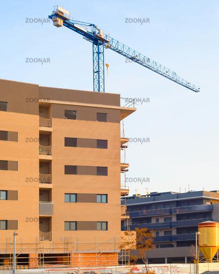 Construction site buildings Barcelona, Spain