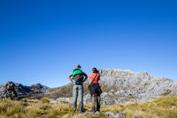 Hikers in Kahurangi National Park, New Zealand