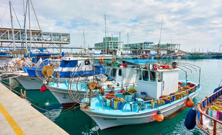 Fishing boats in the port of Limassol