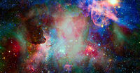 Galaxy shine. Elements of this image furnished by NASA