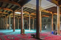 The interior praying halls of the mosque adjacent to Emin Minaret