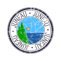 City of Juneau, Alaska vector stamp