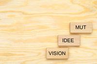 Vision mit Idee und Mut