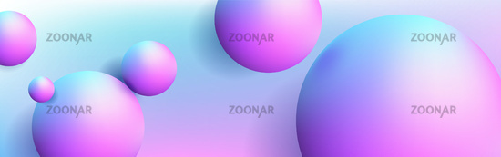 Abstract background with dreamy glossy sphere floating in the air, 3d illustration