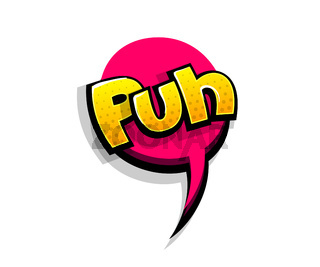 Comic text puh, poof logo sound effects
