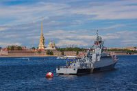 Naval parade in Saint-Petersburg - Russia