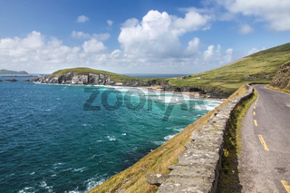 Coast road at Slea Head Drive