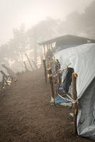 Tents On Acatenango Volcano Guatemala