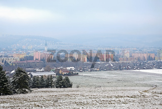 Misty Town in the Winter