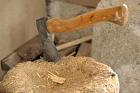 ax wood chop crest firewood lumberjack hoe tool sharp clew
