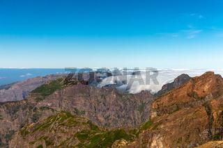 Blick vom Pico do Arieiro, Madeira