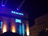 Essen/Germany: 2020-Oct-11: Primark store at night (editorial)