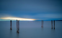 Sunset at lake neusiedlersee in burgenland