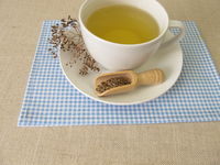 A cup of herbal tea from dill seeds