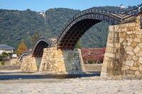 Kintai Bridge in Iwakuni city in the fall,  Japan