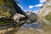 Boat house at the Obersee