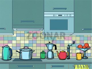 home kitchen mockup background