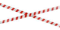 Security tape with red stripes