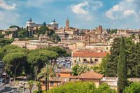 Rome Italy high angle view city skyline