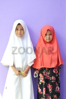 Asian little girl Muslim