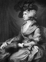 Sarah Siddons (1755-1831) on engraving from 1873. British actress
