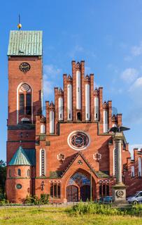 Berlin Friedrichshagen Christophoruskirche mit Denkmal 1870/1871 / evangelische Gemeinde Kirchenbau