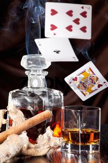 Alcohol consumption, gambling and cigar smoke