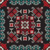 Romanian traditional pattern 212