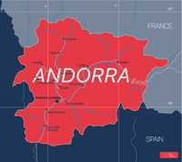 Andorra country detailed editable map