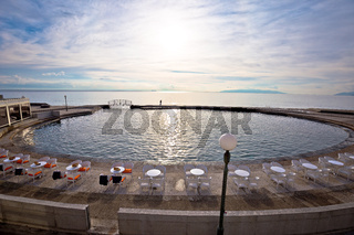 Lungomare famous waterfront walkway in Opatija and Slatina beach view